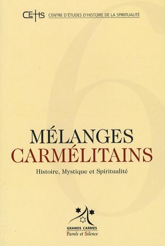 Mélanges carmélitains n° 6