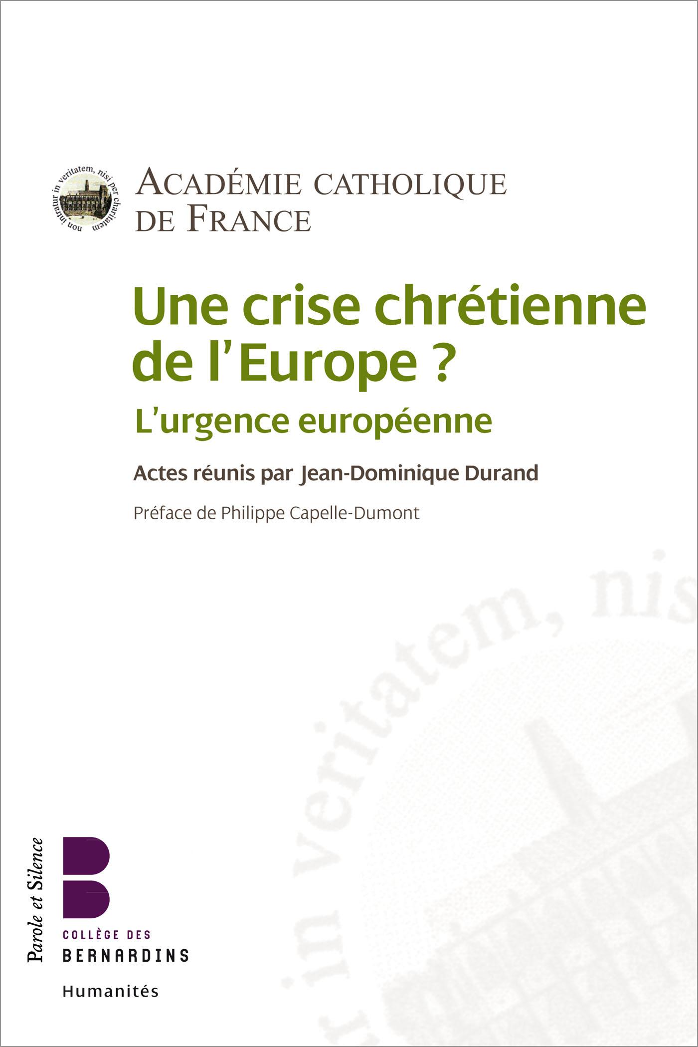 Une crise chrétienne de l'Europe ?