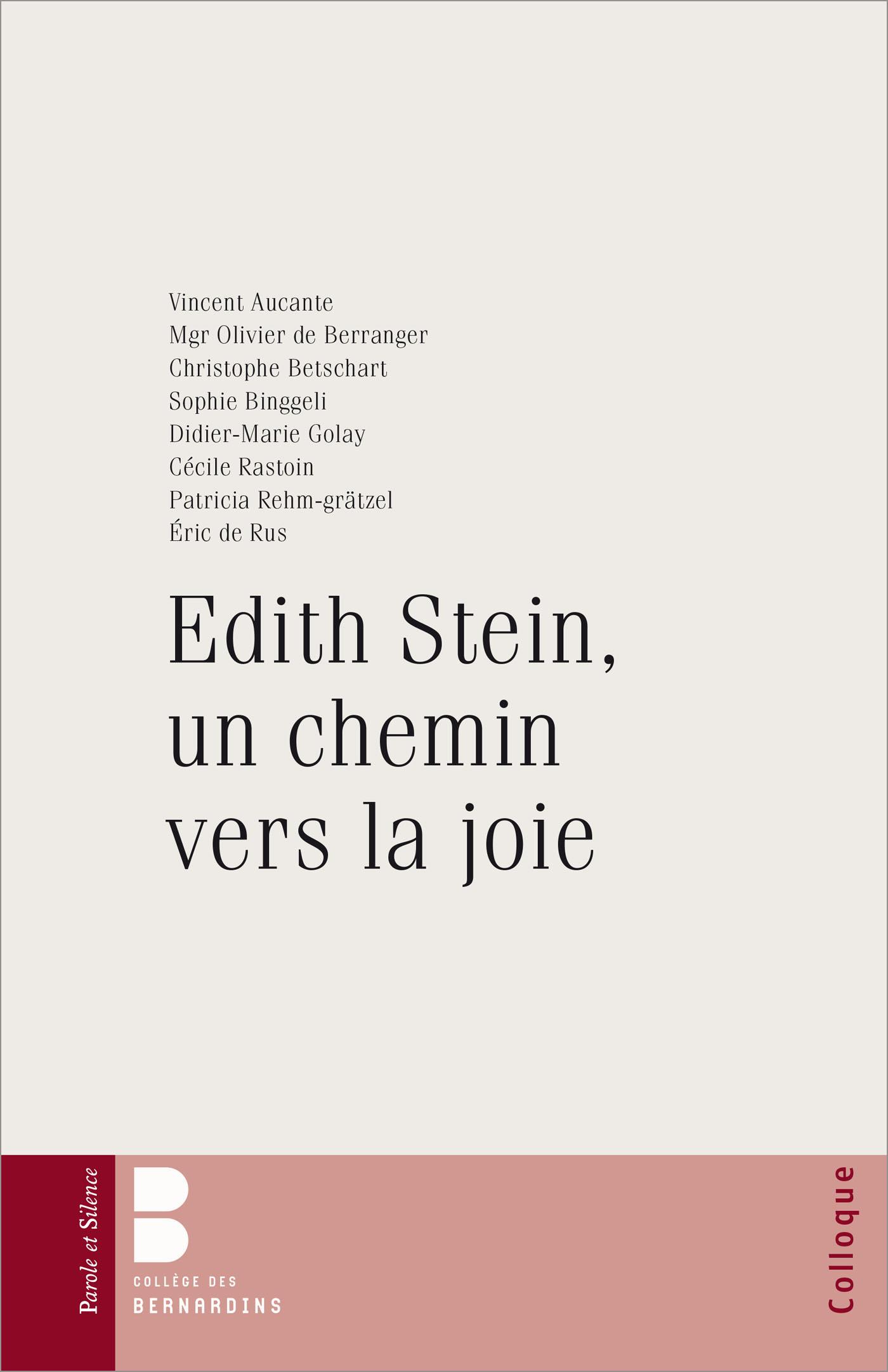 Edith Stein, un chemin vers la joie