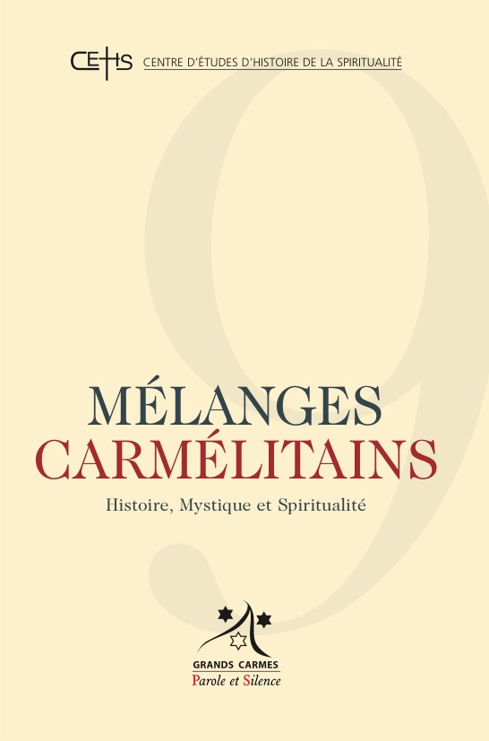 Mélanges carmélitains, n° 9.