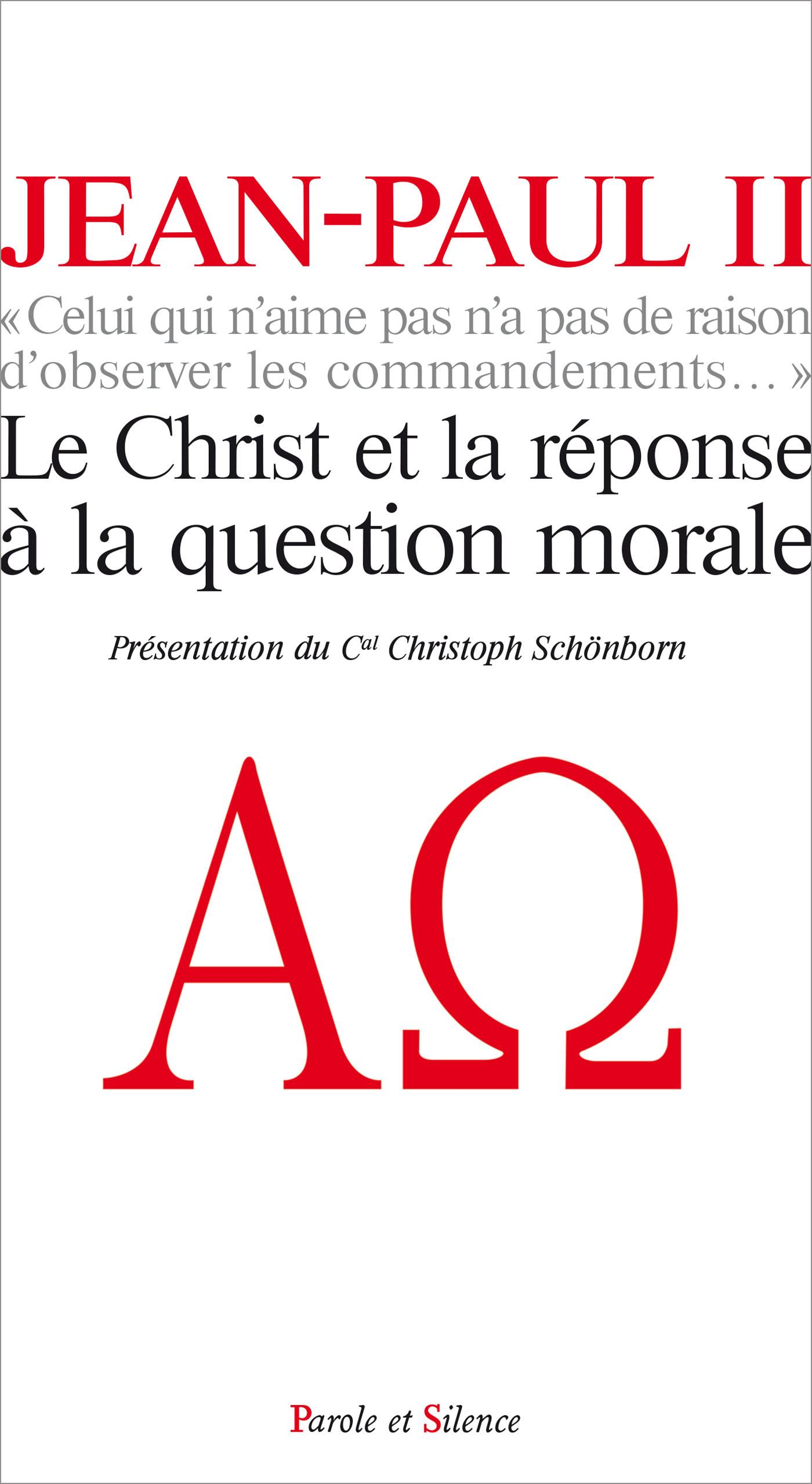 Le Christ et la réponse à la question morale