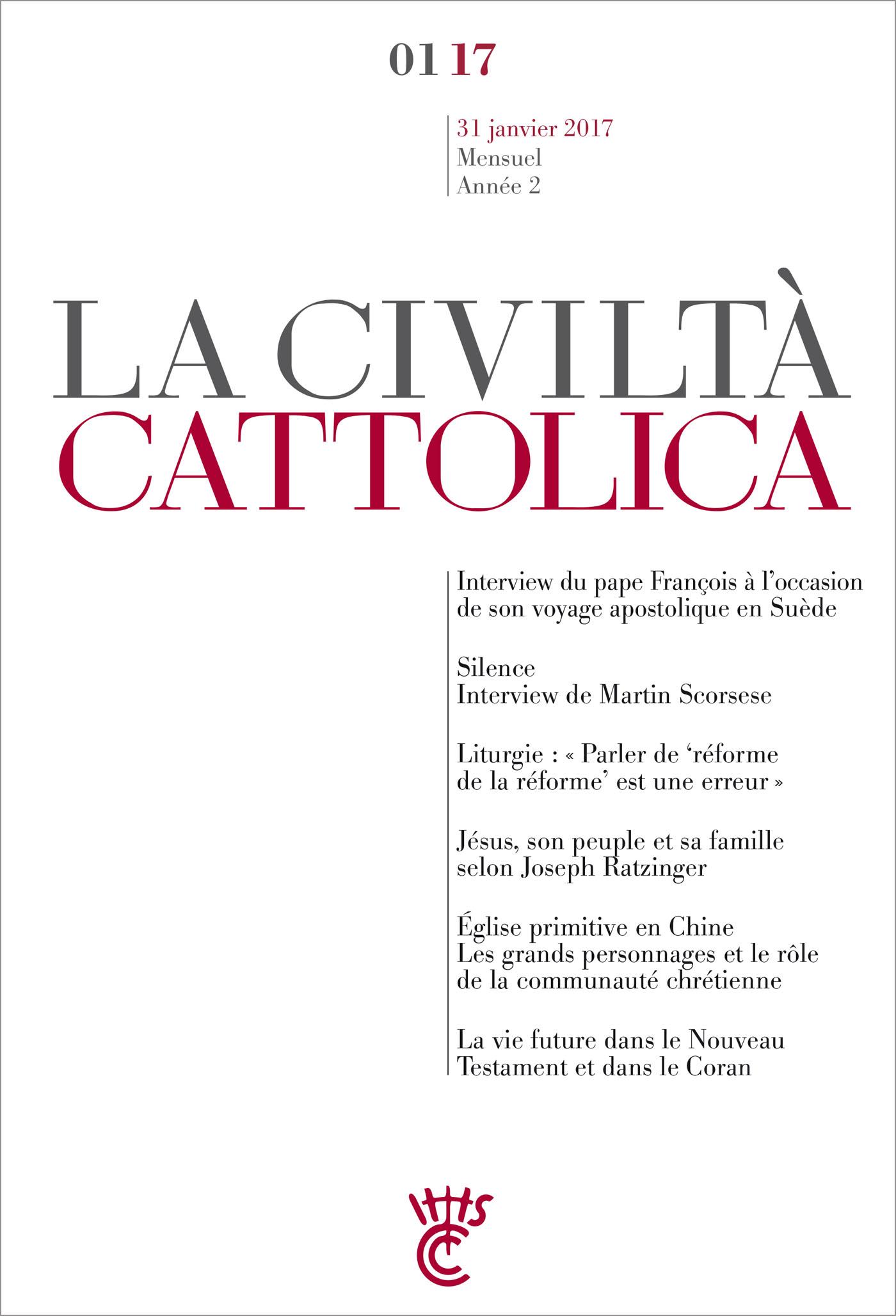 Civiltà Cattolica - Janvier 2017