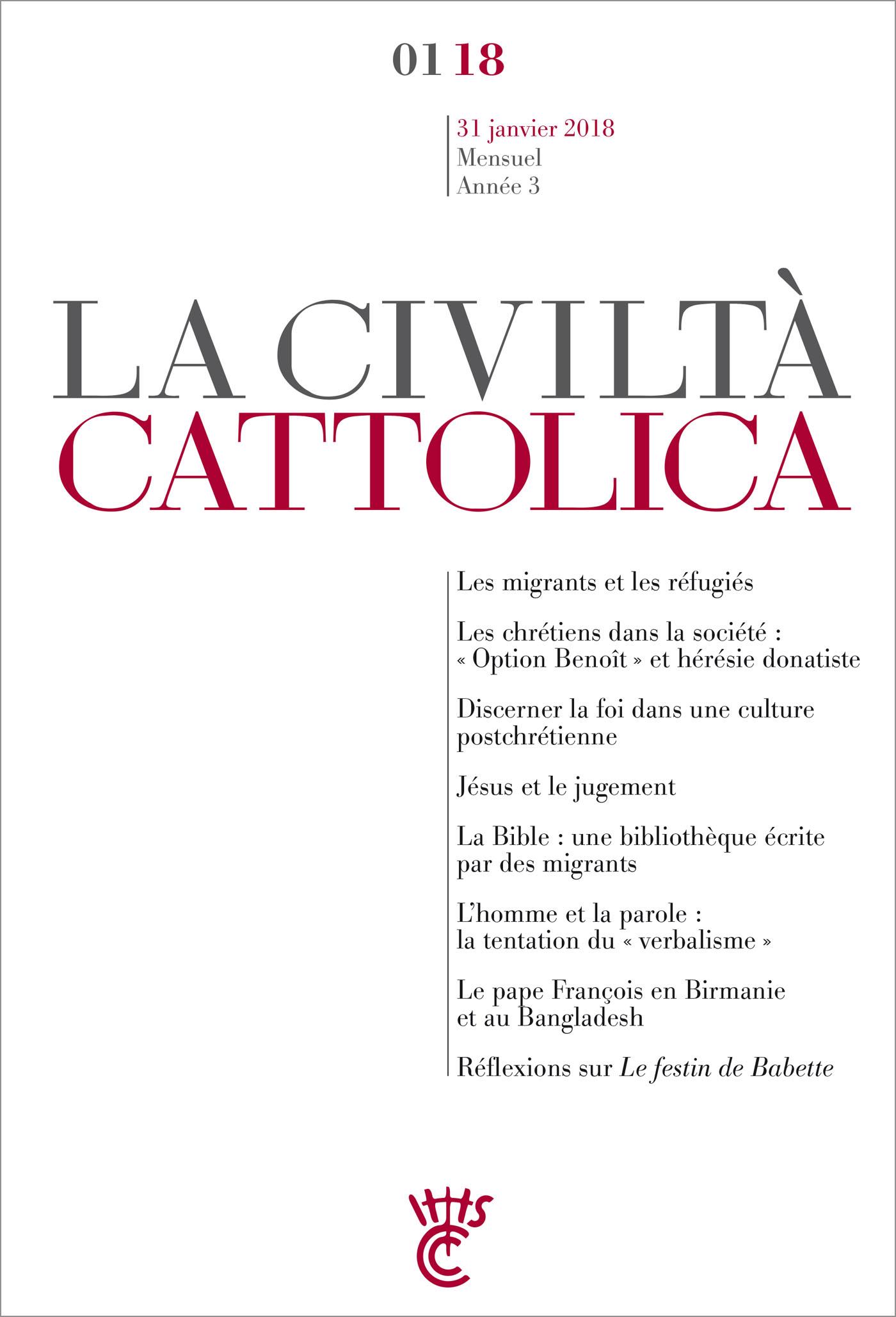 Civiltà Cattolica Janvier 2018