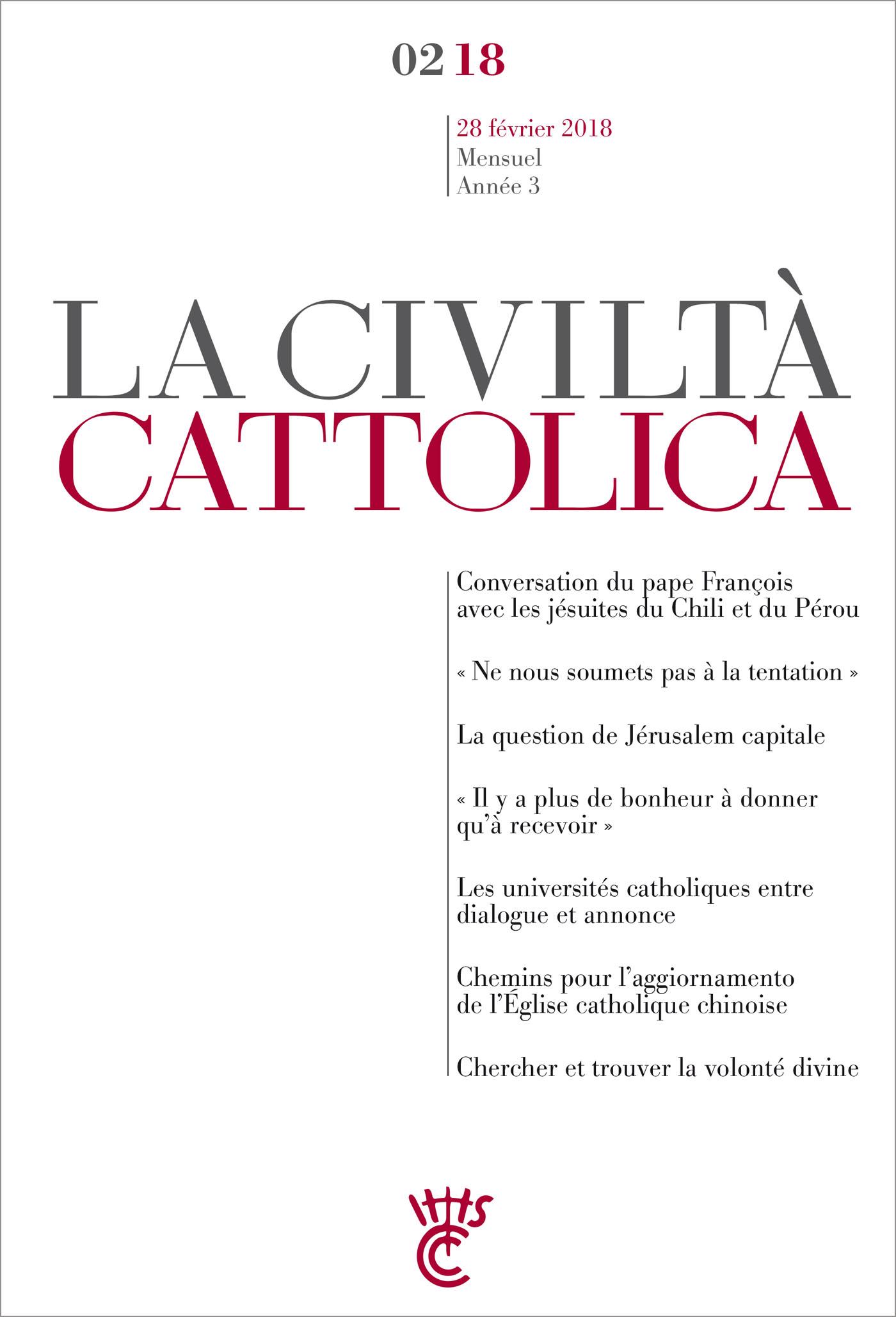 Civiltà Cattolica Février 2018