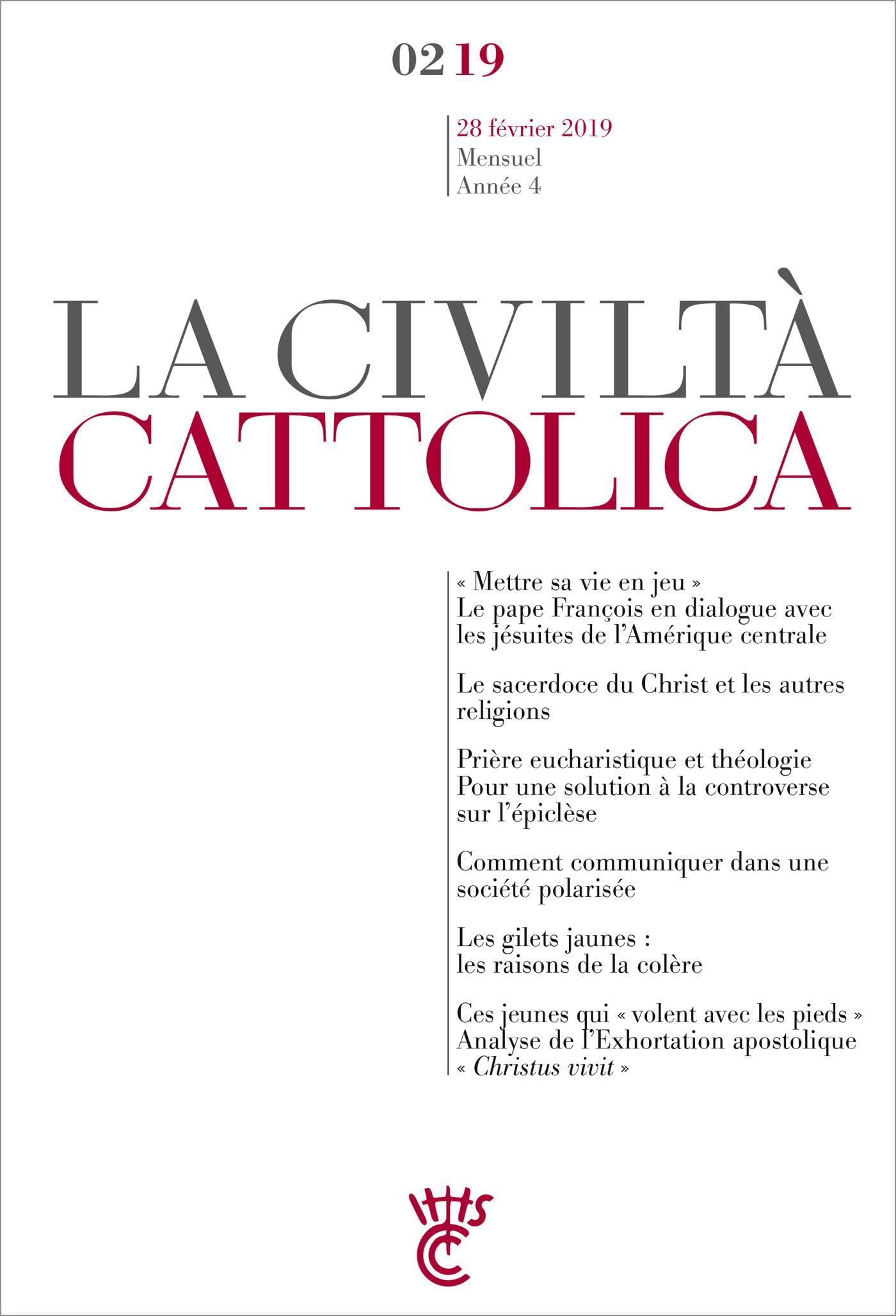 LA CIVILTA CATTOLICA - FEVRIER 2019