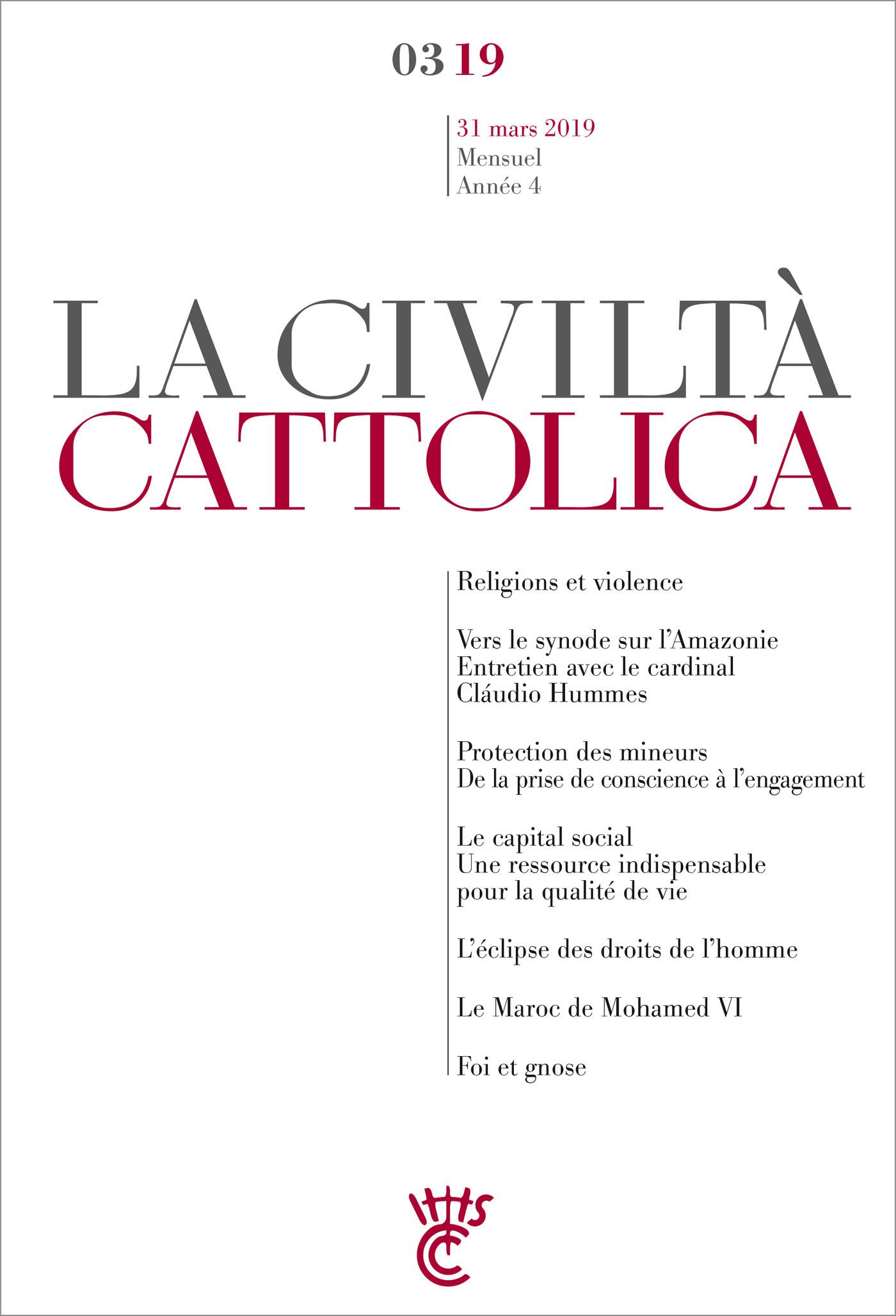 LA CIVILTA CATTOLICA - MARS 2019
