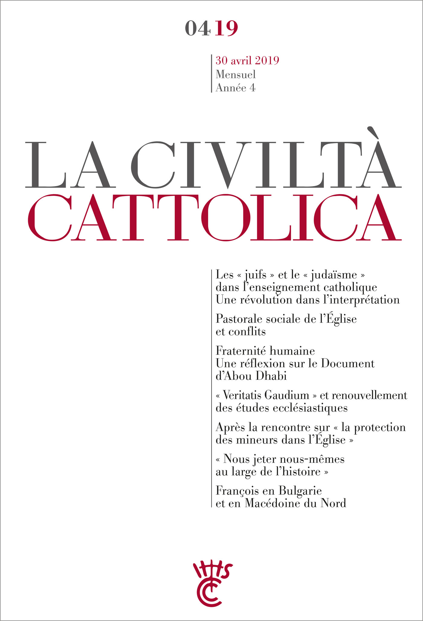 Civilta Cattolica - Avril 2019