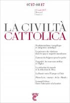 Civiltà Cattolica Juillet-Août 2017