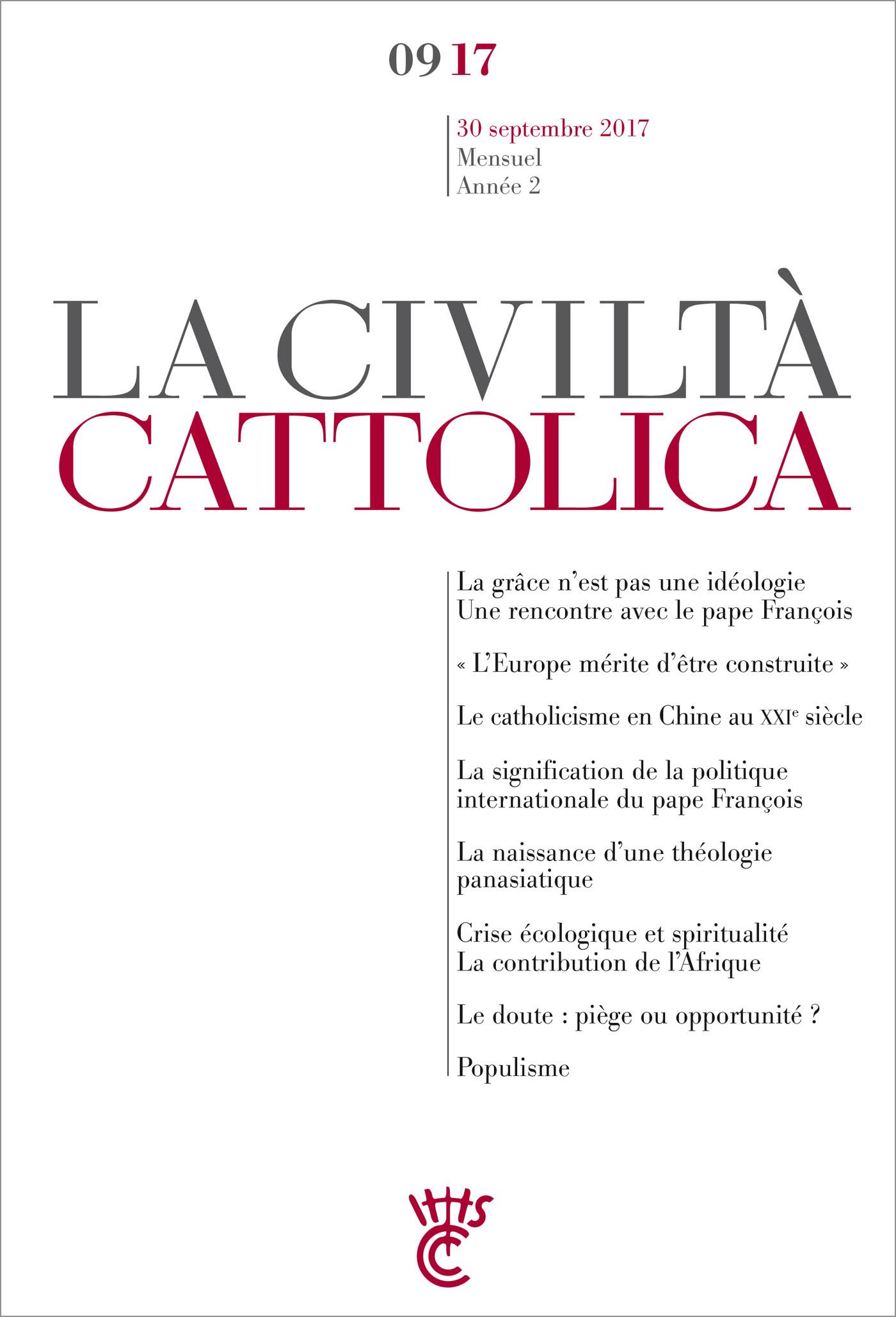 Civiltà Cattolica - septembre 2017
