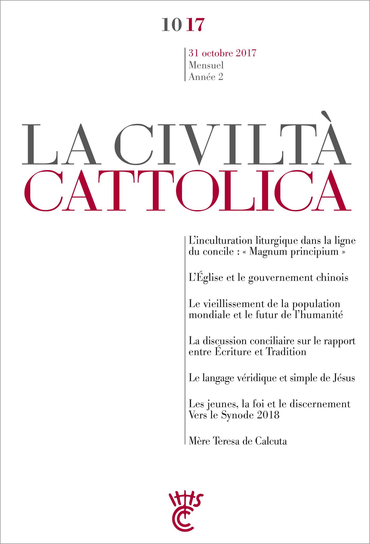 Civiltà Cattolica Octobre 2017
