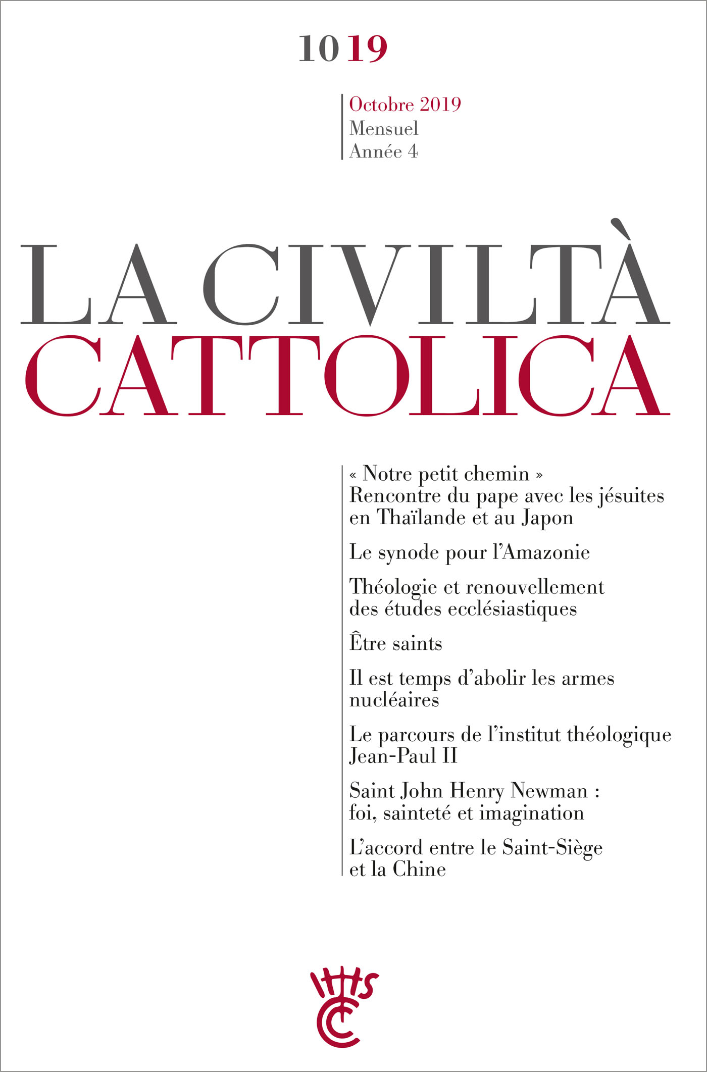 La Civilta Cattolica - Octobre 2019
