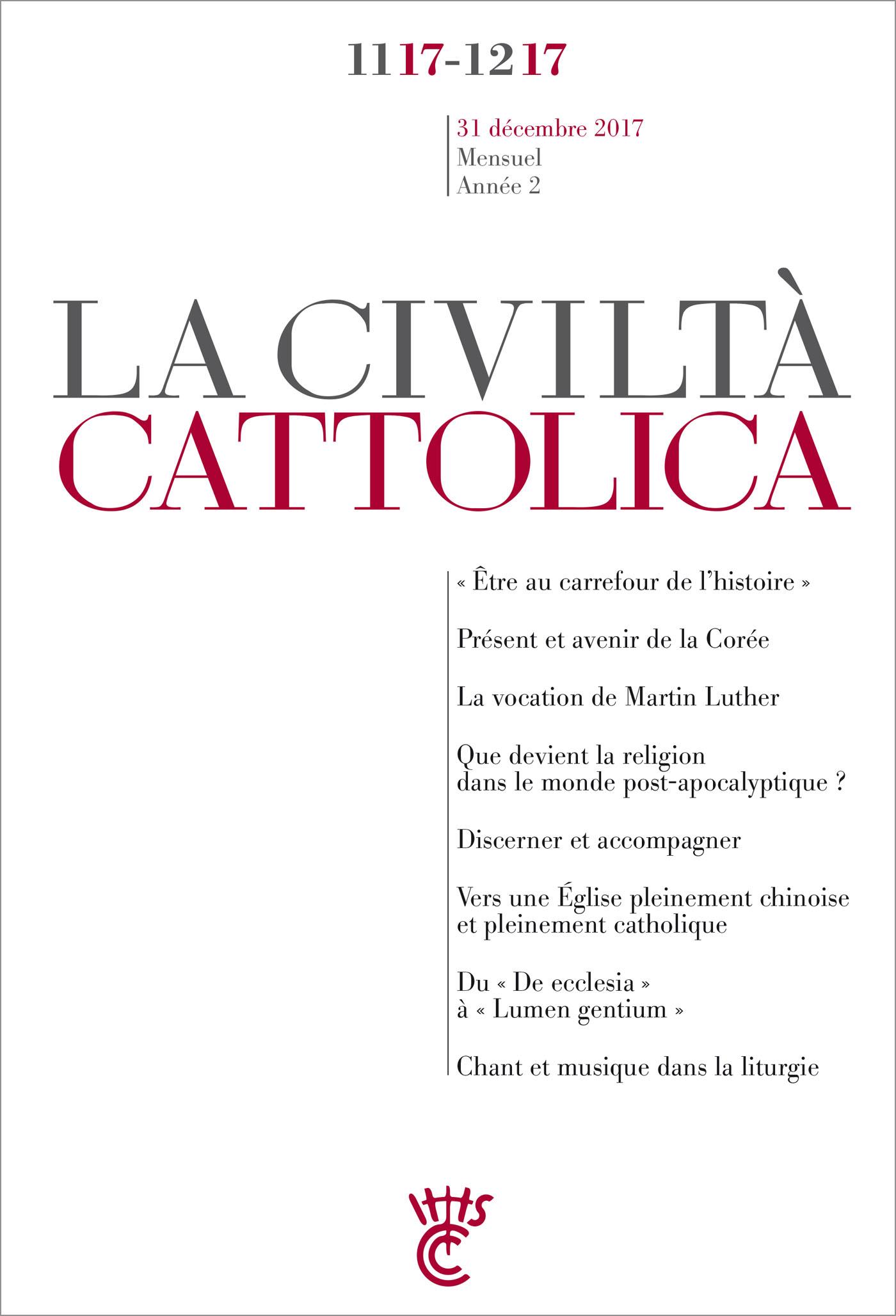Civiltà Cattolica Novembre-Décembre 2017