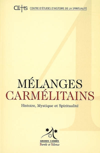 Mélanges carmélitains, n° 4.