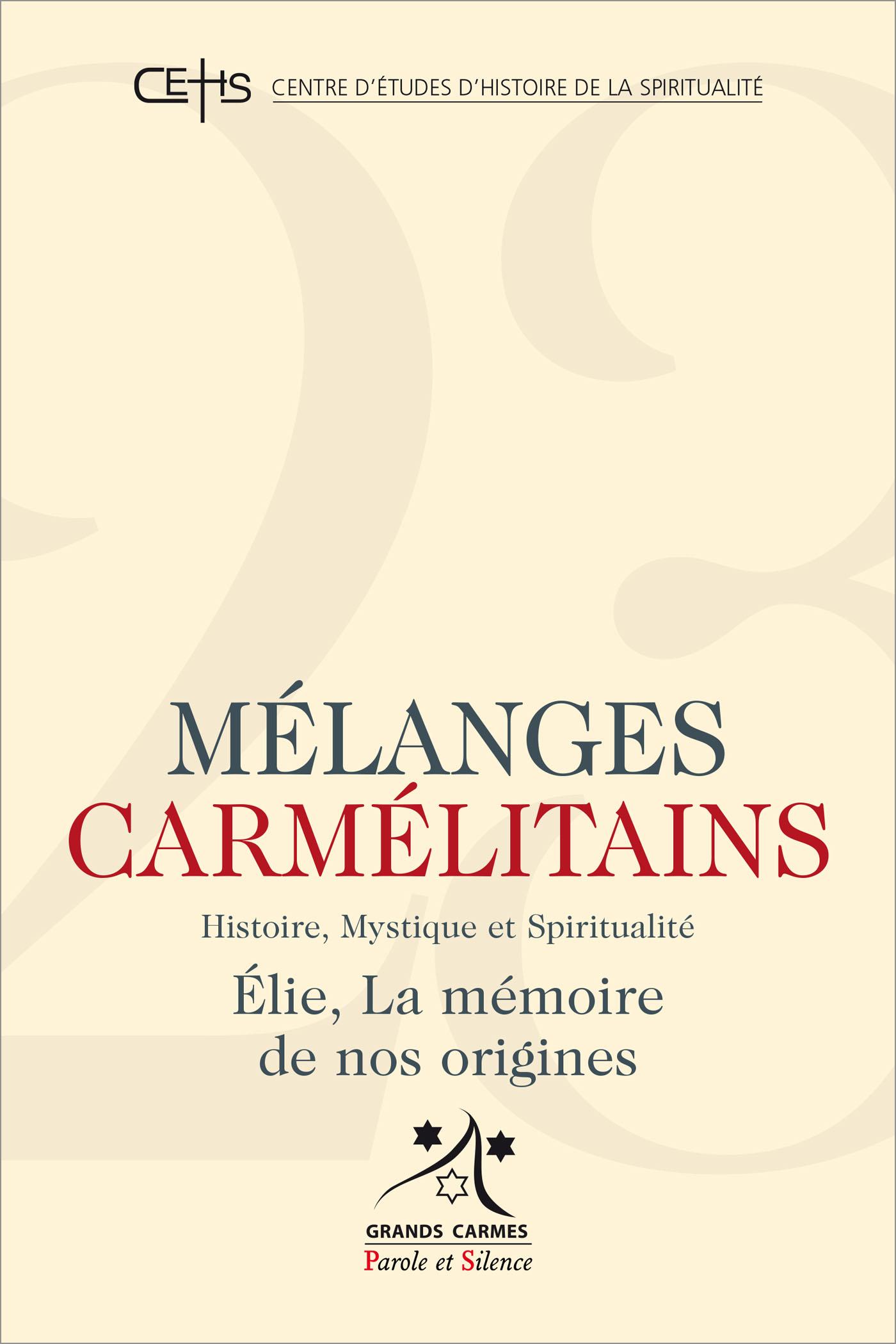 Mélanges Carmélitains 23