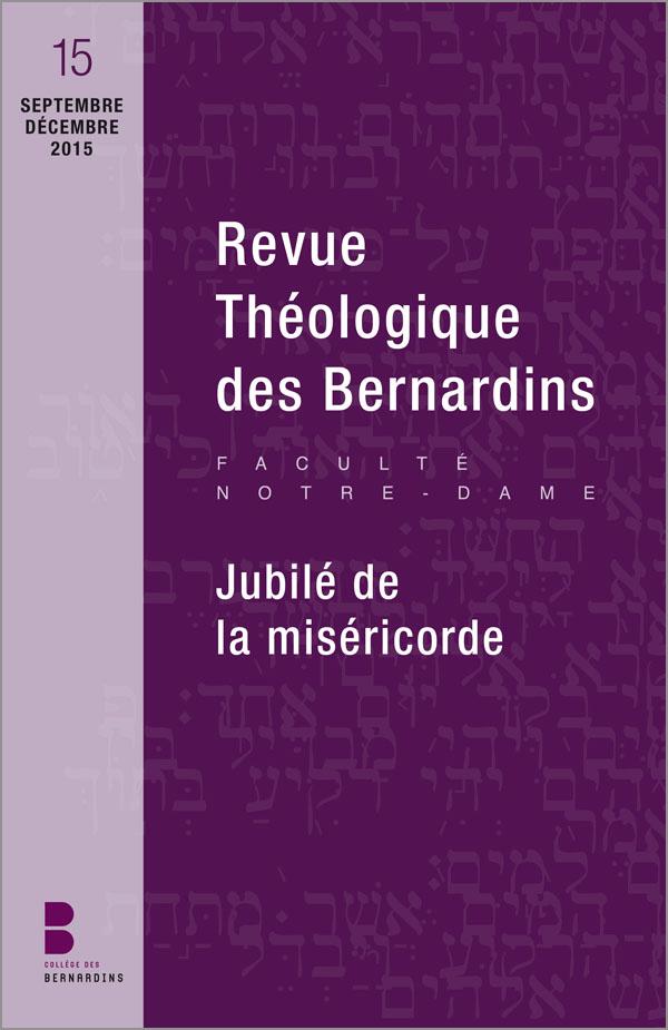 Revue théologique des Bernardins 15