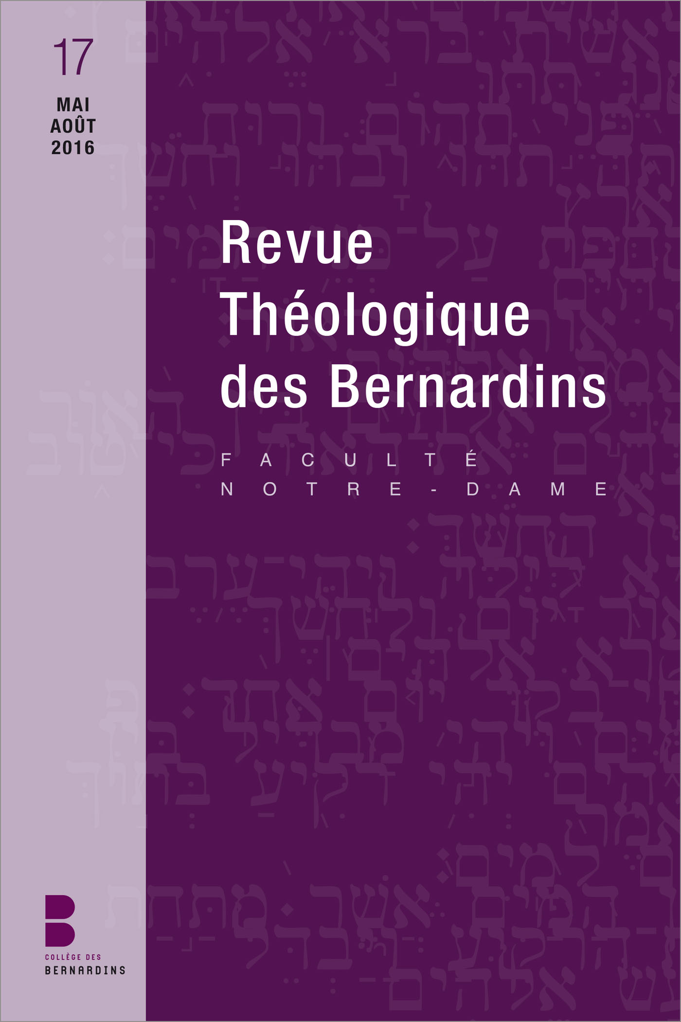 Revue théologique des Bernardins 17