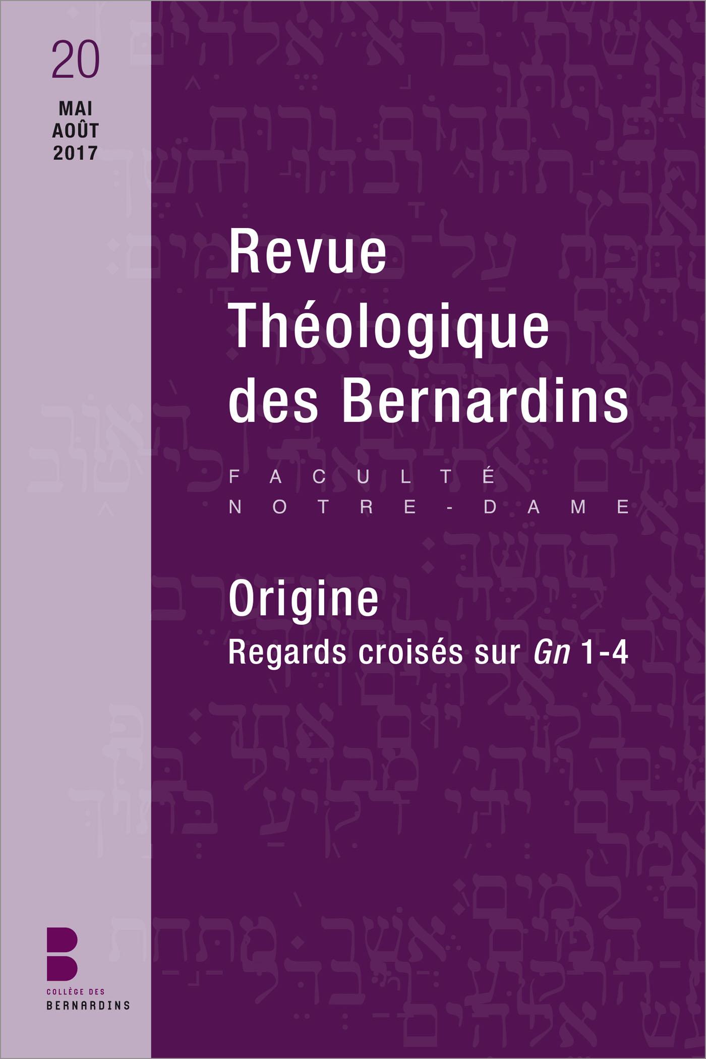 Revue Théologique des Bernardins n°20