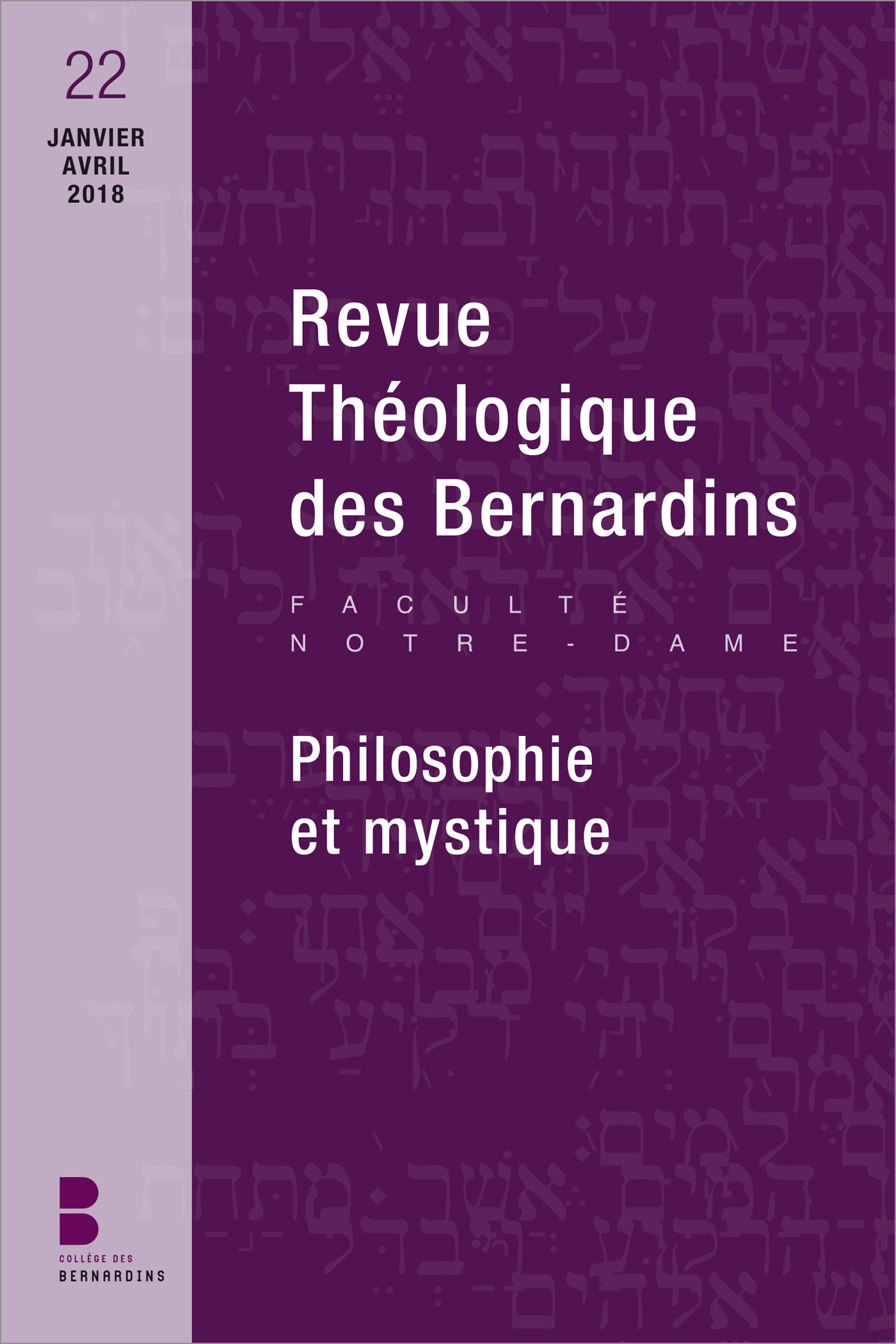 Revue théologique des Bernardins n. 22