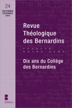 Revue Théologique des Bernardins n°24