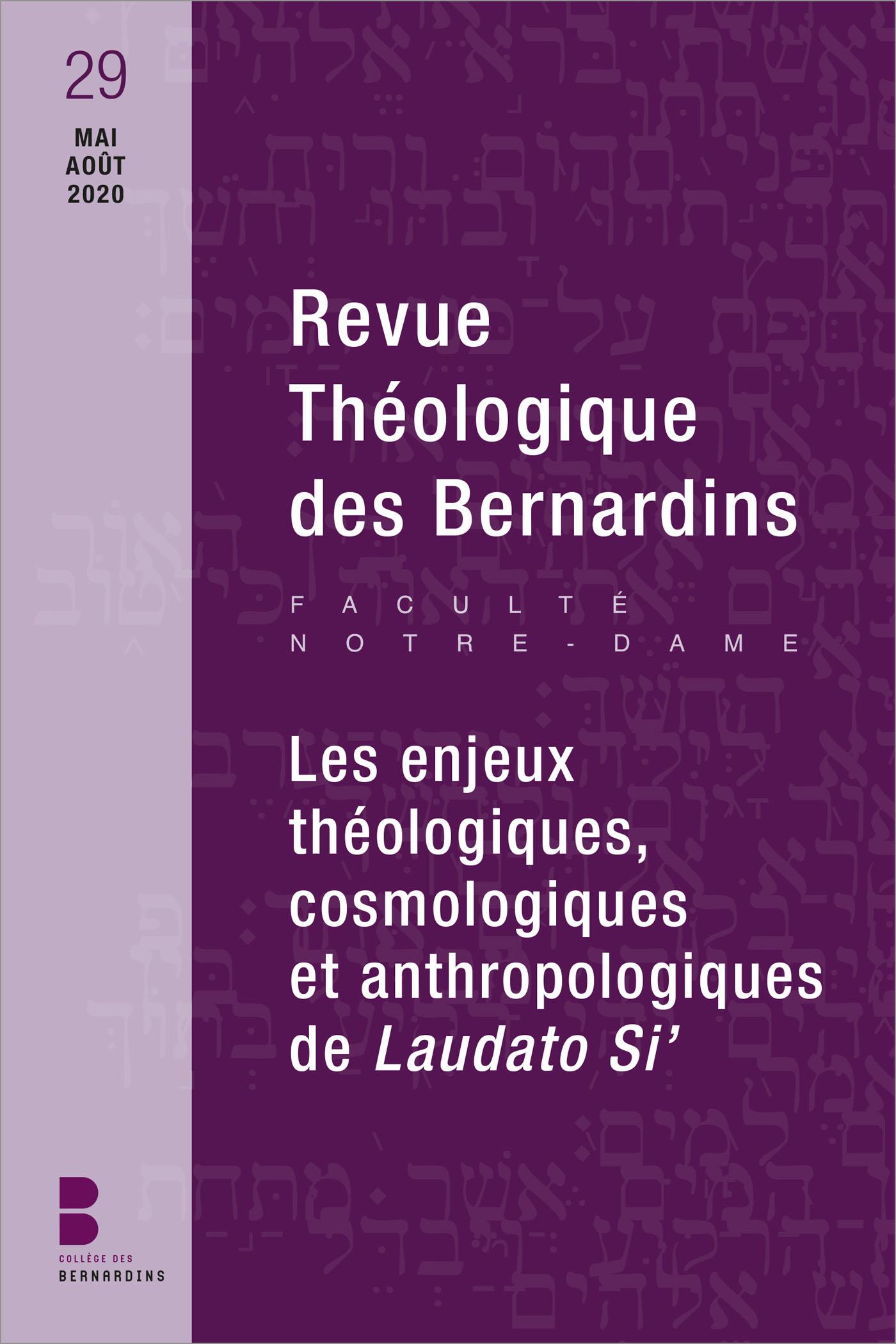 Revue théologique des Bernardins n°29