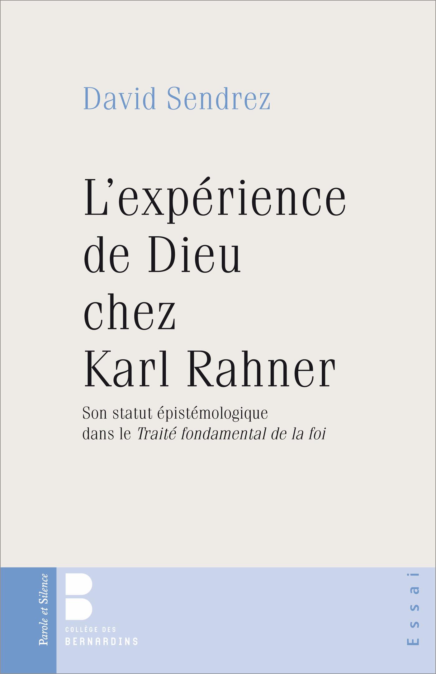 L'expérience de Dieu chez Karl Rahner