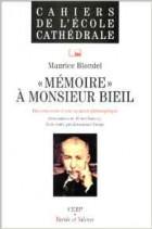 Mémoire à Monsieur Bieil