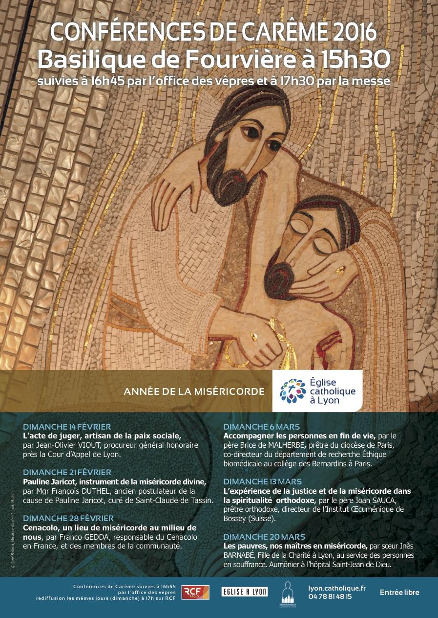 Conférences de Carême 2016 Lyon